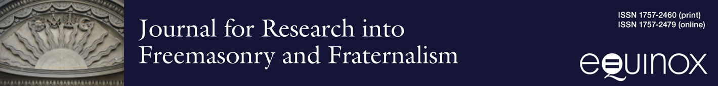Journal for Research into Freemasonry and Fraternalism