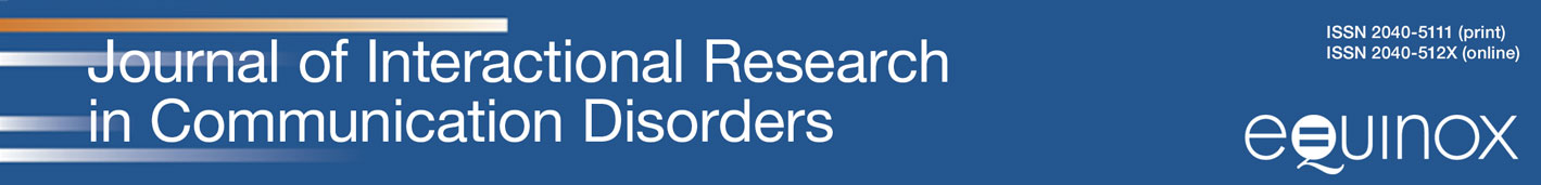Journal of Interactional Research in Communication Disorders