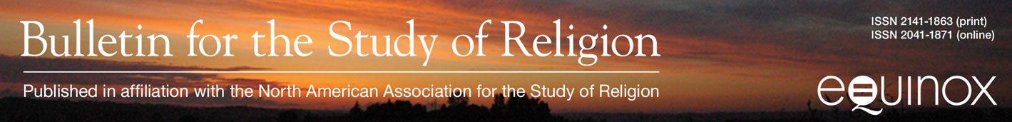 Bulletin for the Study of Religion -- Published in Affiliation with the North American  Association for the Study of Religion