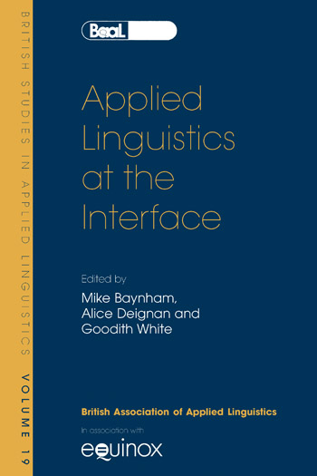 Applied Linguistics at the Interface - British Association for Applied Linguistics